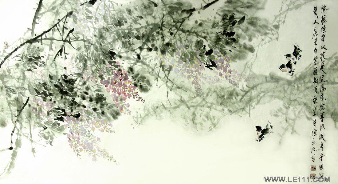 工笔紫藤花绘画步骤